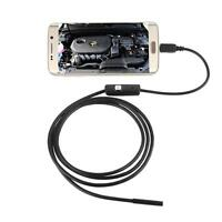 1-5M 6LED 7mm Android Endoscope Waterproof Snake Borescope USB Inspection Camera
