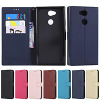 Luxury Wallet Leather Flip Stand Card Case Cover For Sony L1 L2 XZ1 Compact XA2