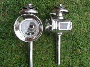 NEU 2 Kutschenlampen chrom klein, Model N11