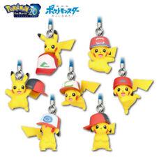 Pokemon Netsuke Mascot 20th Movie Ver. 7PC Set Pikachu Hat Nintendo Tomy Ultra