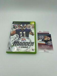 Daunte Culpepper Signed 2002 Madden XBOX GAME JSA COA Photo Complete Game