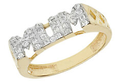 9ct Gold Hallmarked Ladies Cubic Zirconia CZ Mums Ring Hallmarked FREE UK POST