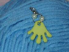 Cute Girls Acrylic Yellow Hand Clip On Bracelet Charm