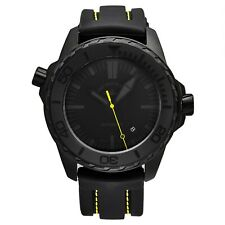 Zeno Men's Divers Black Dial Black Rubber Strap Automatic Date Watch 6603-BK-I19