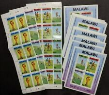 EDW1949SELL : MALAWI 1990 Sc #566-69,569a World Cup Soccer 10 Cplt sets & 10 S/S