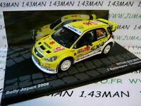 RIT50M voiture 1/43 IXO  Rallye ITALIE SUZUKI SX4 WRC Japon 2008 Gardemeister