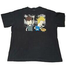 Beavis and Butthead Unisex Graphic Tshirt Size XL Black Short Sleeve 90' MTV