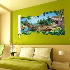 Wandtattoo Wandbild Wandaufkleber Kinderzimmer Dinosaurier Landschaft 3D #22