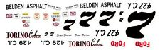#7 Dean Dalton Belden Asphalt Ford Torino 1/64th HO Scale Slot Car Decals