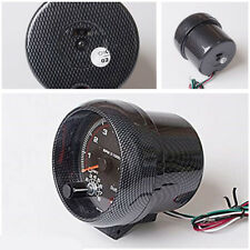 """3.75"""" Carbon Fiber Appearance LED Tachometer For 4, 6, 8 Cylinder 12V Petrol Car"""