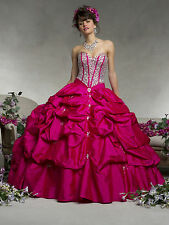 NEW Vizcaya by Mori Lee XV Sweet 16 Quinceanera Dress 88064 Cerise Size 8