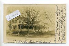 Georgetown MA Mass RPPC real photo Main Street Folsom Residence antique postcard
