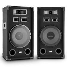 "PAAR HIFI STEREO STAND LAUTSPRECHER PA DJ STUDIO SOUND 12"" SUBWOOFER PARTY BOXEN"