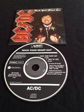 AC/DC ROCK YOUR HEART OUT CD  AUSTRALIA  ALBERT PRODUCTIONS 657559 2 RARE OOP
