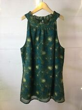 Liberty Of London For Target Teal Peacock Sleeveless Top Size Small