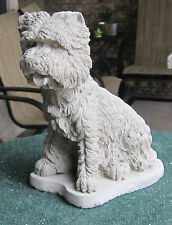 CONCRETE WEST HIGHLAND TERRIER  STATUE / MEMORIAL / GRAVE MARKER ( WESTIE )