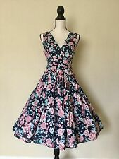 NWT 50's Vintage Style Pinup Swing Twirl Floral Print Dress Large.