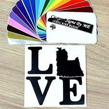 Love Yorkshire Terrier Dog Sticker Vinyl Decal Adhesive Wall Door Window Laptop