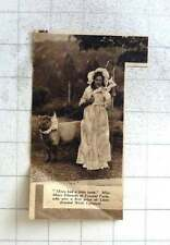 1937 Miss Mary Edwards Of Tycenol Farm Wins First Prize Llandrindod Wells