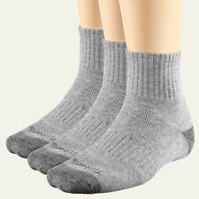 Timberland Men's  Quarter Crew Light Grey One Size Sock 3PAIR(size 9-12)