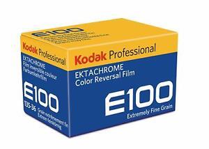 10x Kodak Ektachrome E100 Color Reversal Film (35mm Roll Film, 36 Exposures)