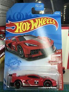 🔴Hot Wheels 2021 Custom Corvette C8.R Red Edition Real Riders