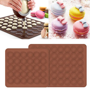 Silicone Macaron Macaroon Mat Tray 30 48 Circles Muffin Mould Oven Baking Mold