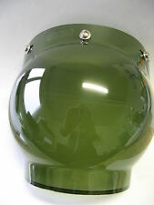 VINTAGE AGV Bubble Shield Visier Visor Face green f.Jet Helme - 70iger Jahre NOS