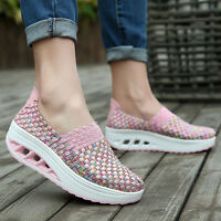 Women'S Casual Shoes Sport Fashion Woven Shoes For Women Swing Shoes Breathable