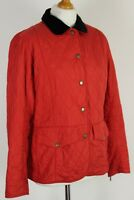BARBOUR Ladies Red QUILTED TAILOR QUILT JACKET / COAT - Size UK 14 - US 10