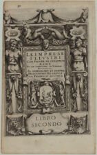 RENAISSANCE Rollwerk Original Kupferstich 1560 Löwe Beschlagwerk Grotesk Italien