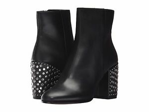 Women's Shoes Dolce Vita Olin Leather Studded Heel Boot Black *New*
