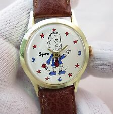 "SPIRO AGNEW ""Peace Baby"" Dial,Manual Wind.ULTRA RARE! MEN'S WATCH,299,L@@K"