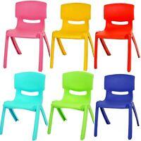 Stackable Kids Children Plastic Chair Up To 60kg Play Outdoor Indoor