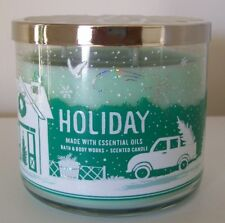 BATH & BODY WORKS HOLIDAY 14.5OZ JAR CANDLE 2018 GREAT HOLIDAY SCENT