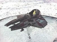 Star Wars Obi-Wan Kenobi Jedi Starfighter Vehicle 2004 Hasbro Burgundy Gray