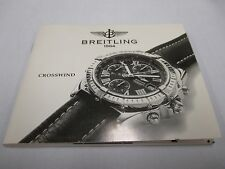 NOS BREITLING CROSSWIND Chronograph Watch Manual Book 7 Languages