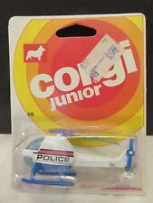 Vintage Corgi Jr #46 Helicopter Police Die-Cast Mettoy Great Britain