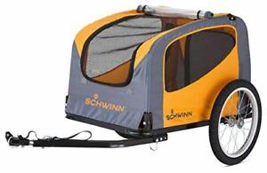 Rascal Bike Pet Trailer, For Small and Large Dogs, Orange Small (Up to 50lbs)
