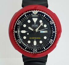 Swiss Army RED TUNA SHROUD for 7s26, SKX007 SKX009 011 A55 Seiko Divers Watch