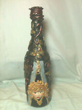 "Handmade Decorative & Designed Bottles ""The Peek A Bool"" 12""Tall"