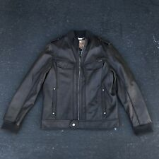 Guess Authentic Leather Motorcycle Jacket Size L