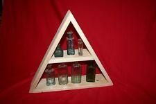 Triangular Wooden Ornament / Crystal Display Shelf. Wood shelving wall triangle