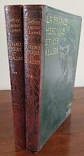 LA FRANCE HÉROÏQUE ET SES ALLIES 1914-1919 complet en 2 volumes. Larousse editio
