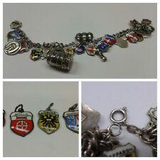 schönes Bettelarmband 835er Silber Silberarmband Wappenarmband Wappen