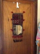 "Cute Tribal Rug Folding Mirror Wall Hanging 26"" Long X 8 1/2"" Wide"