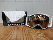 Oakley Crowbar Tagline Blue Black Iridium White Snowboard Goggles Frame SO RARE!