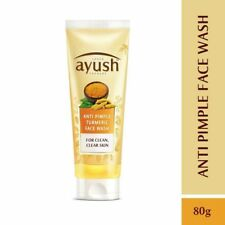 Lever Ayush Anti Pimple Turmeric Face wash 80g Anti acne Anti pimple