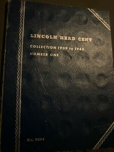 Set of 125 Lincoln Cents from 1909-62 Wheat & Memorial in two folders.