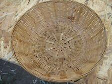 Round Light Brown Wicker Basket